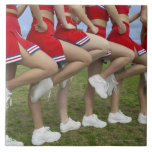 Low Section View of a Group of Cheerleaders Large Square Tile