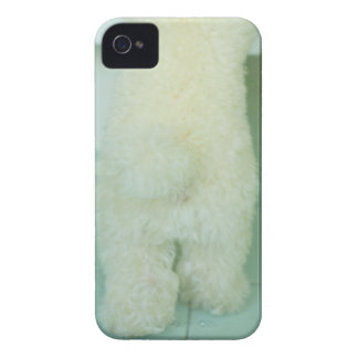 Low section view of a miniature poodle iPhone 4 case