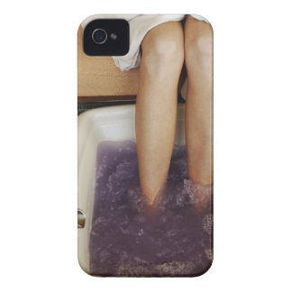 Low section view of a woman getting a pedicure iPhone 4 Case-Mate cases