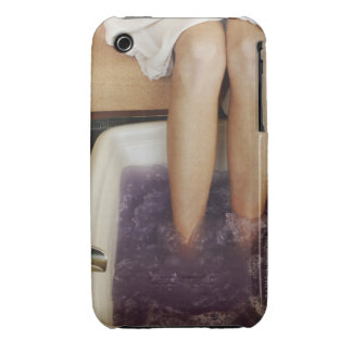 Low section view of a woman getting a pedicure iPhone 3 cover