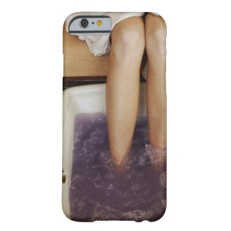 Low section view of a woman getting a pedicure iPhone 6 case