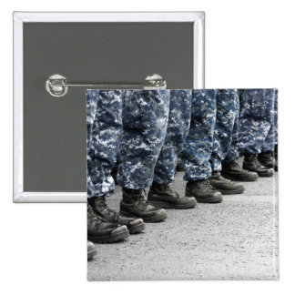 Low section view of sailors 2 inch square button
