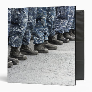 Low section view of sailors 3 ring binder
