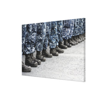 Low section view of sailors canvas print