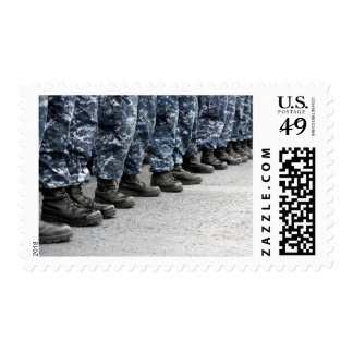 Low section view of sailors postage