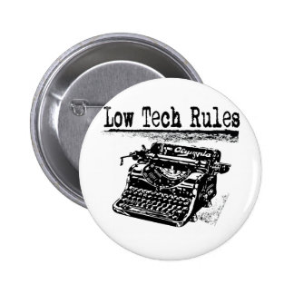 LOW TECH RULES 2 INCH ROUND BUTTON