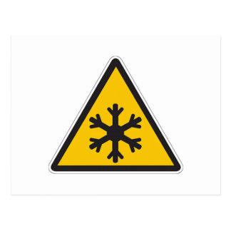 Low Temperature Sign Postcard