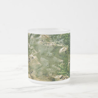 LOW TIDE AND EROSION DETAILS AT THE BEACH FROSTED GLASS COFFEE MUG