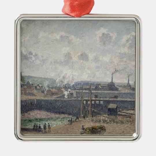 Low Tide at Duquesne Docks, Dieppe, 1902 Metal Ornament