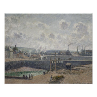 Low Tide at Duquesne Docks, Dieppe, 1902 Poster