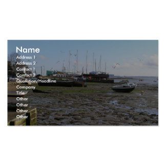 Low Tide At Mersea, Essex, Uk Business Card
