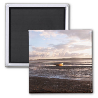 LOW TIDE AT SUNSET 2 INCH SQUARE MAGNET