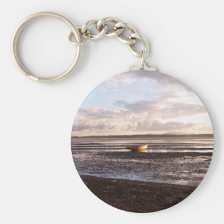LOW TIDE AT SUNSET BASIC ROUND BUTTON KEYCHAIN