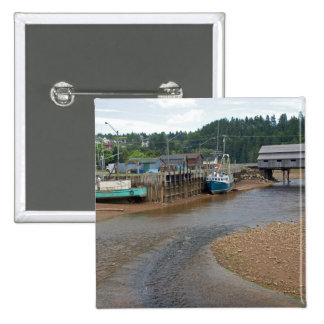 Low tide at the Bay of Fundy at St. Martins, New 2 Inch Square Button