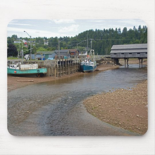 Low tide at the Bay of Fundy at St. Martins, New Mouse Pad