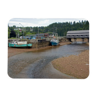 Low tide at the Bay of Fundy at St. Martins, New Rectangular Photo Magnet