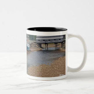 Low tide at the Bay of Fundy at St. Martins, New Two-Tone Coffee Mug