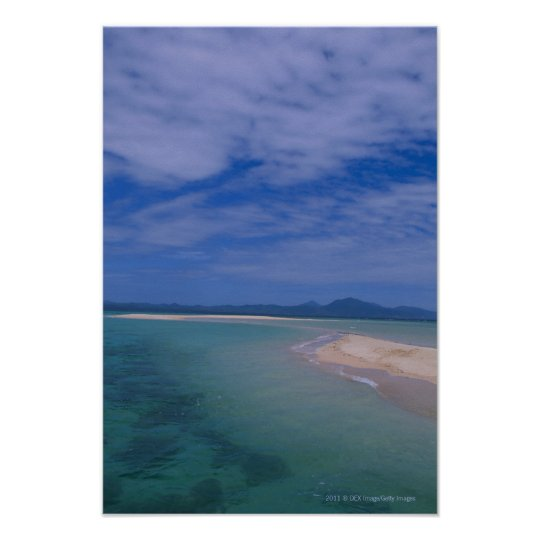 Low tide at the beach poster