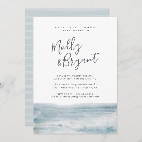 Low Tide Engagement Party Invitation