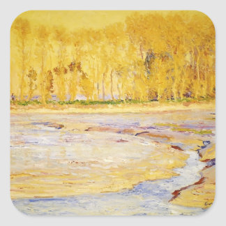 Low Tide Honfleur by Guy Rose Square Sticker