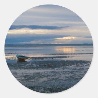 Low Tide In Birch Bay Classic Round Sticker