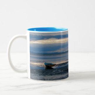 Low Tide In Birch Bay Two-Tone Coffee Mug