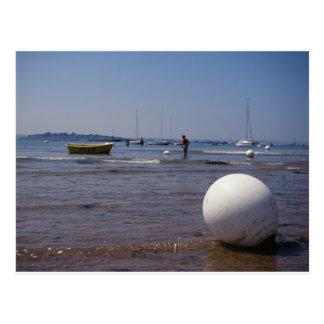 Low tide in Bretagne, France Postcard