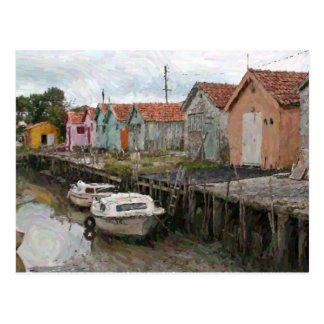 Low Tide in France Postcard