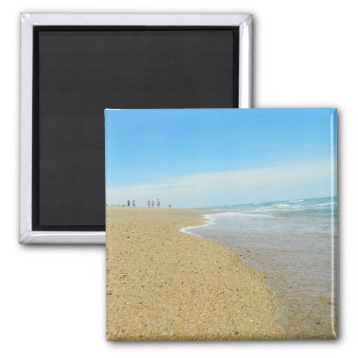 Low Tide on The Beach Refrigerator Magnet
