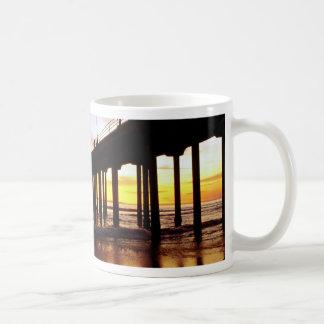 Low tide reflections at sundown, Huntington Beach Mug