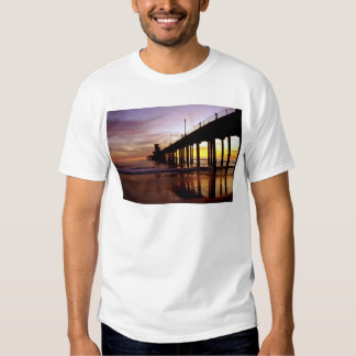 Low tide reflections at sundown, Huntington Beach Tee Shirt