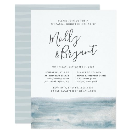 Low Tide Rehearsal Dinner Invitation