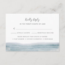 Low Tide RSVP Card with Meal Choice