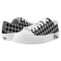 Low top Gingham Unisex Zipz Shoes Sneakers