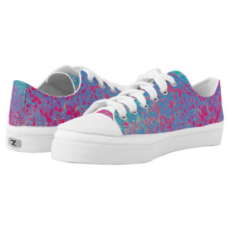 Low Top Shoes Colorful Corroded Background