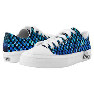 Low Top Shoes Crystal Bling Strass Printed Shoes