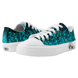 Low Top Shoes Glitter Dust Printed Shoes