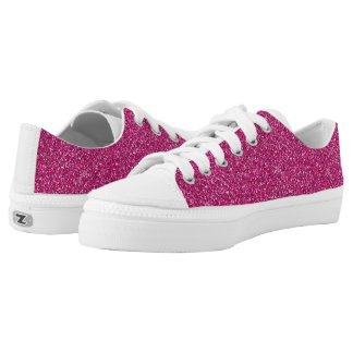 Low Top Shoes Hot Pink glitter for women
