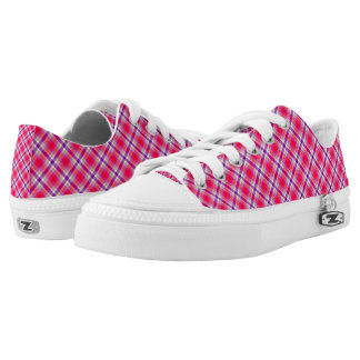 Low Top Shoes/Pink and Purple Plaid
