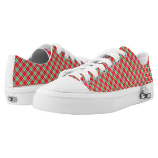 Low Top Shoes/Red and Green Plaid