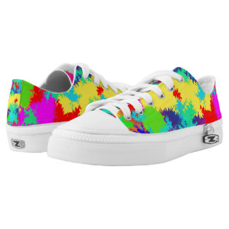 Low Top Shoes With Colourful Random Trippy Pattern