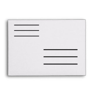Low Vision Small A6 Envelope