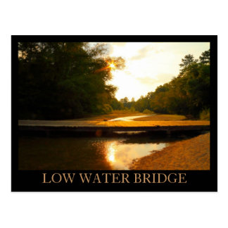 Low Water Bridge - Franklin County, MS Sunset Postcard