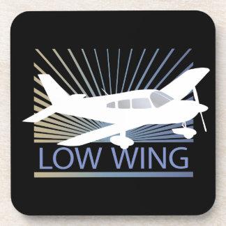 Low Wing Airplane Beverage Coaster