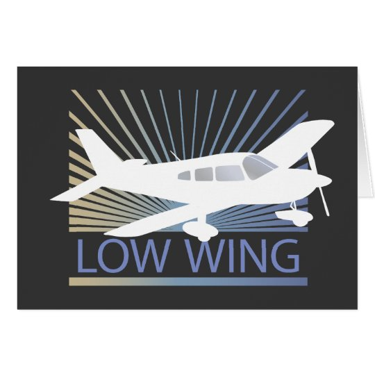 Low Wing Airplane Card