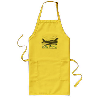 Low Wing Airplane Long Apron