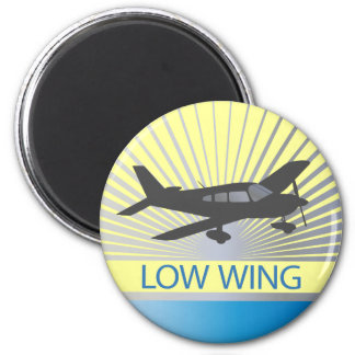 Low Wing Airplane Magnet