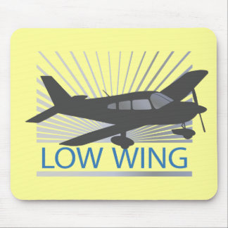 Low Wing Airplane Mouse Pad