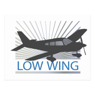 Low Wing Airplane Postcard
