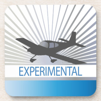 Low Wing Experimental Airplane Beverage Coaster